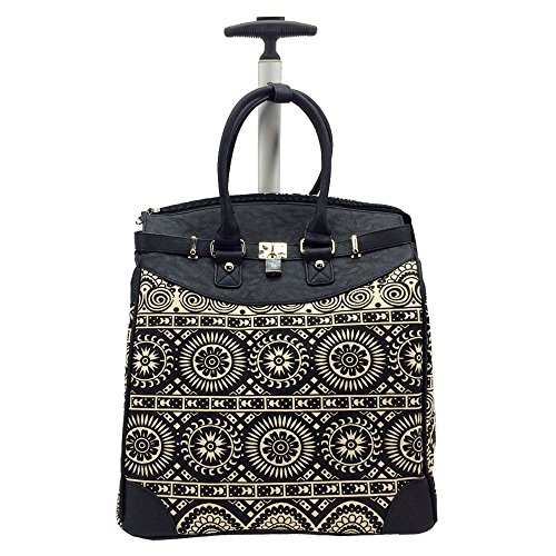 Aztec Black Rolling 14-inch Laptop Travel Tote ()
