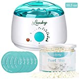 natural hair heater - Wax Warmer, Lansley Hair Removal Waxing Kit Wax Heater Melts Wax Beans in Minutes, Rapid Depilatory Machine for Face, Body, Legs, Bikini Area with 10.5 oz Pearl Hard Wax (At-Home Waxing)