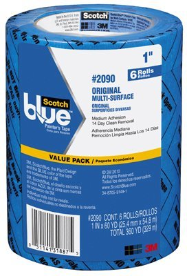3M .94 in. x 60 yd. Scotch Blue Painters Tape 4 x 6 Pack (24 rolls)