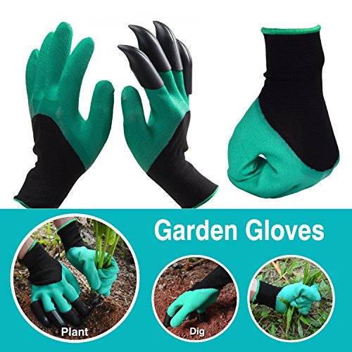 Garden Gloves with Fingertips Claws Quick- Great for Digging Weeding Seeding poking -Safe for Rose Pruning -Best Gardening Tool -Best Gift for Gardeners (Right Hand Claw 2 Pairs)