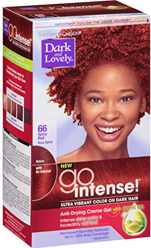 Dark and Lovely Go Intense! Hair Color No.66, Spicy Red, 1 ea (Pack of 2) (Dark And Lovely Go Intense Passion Plum)