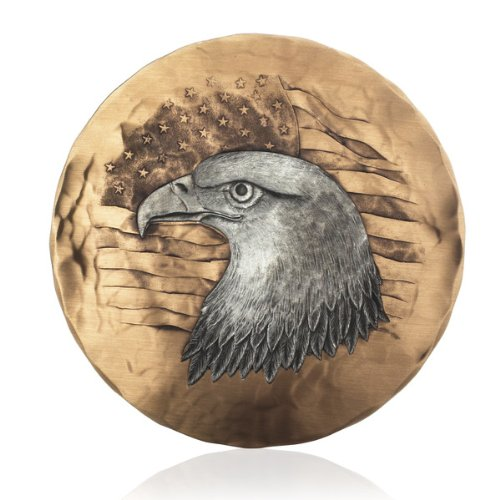 Wendell August Spirit of America Pewter on Bronze Plate, 6-Inch ()