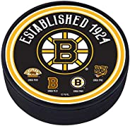 Boston Bruins Heritage Textured Puck