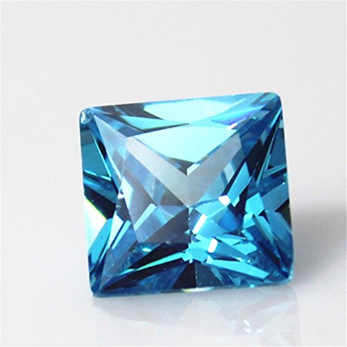 - Aquamarine Square Faceted Gemstone Princess Cut Aquamarine Gem Multiple Sizes to Choose C22A