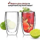 Coffee or Tea Glass Mugs Drinking Glasses Set of