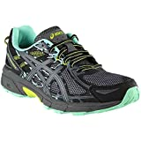 ASICS T7G7N Women's GEL-Venture 6 (D) Shoe, Black/Carbon/Neon Lime - 5.5 US