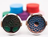 Essential Oil Car Diffuser Vent Clip, 2 Pack, Tree of Life &...