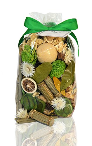 Manu Home Lemongrass Potpourri Bag-12 oz Infuse the room with the fresh, soothing lemongrass scent of this potpourri for clean, relaxing atmosphere ~ Made In USA! (Scent Potpourri)