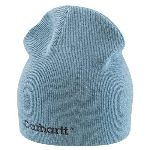 (Carhartt Women's WA007 Women's Solid Knit Hat - One Size Fits All - Dusty Blue)