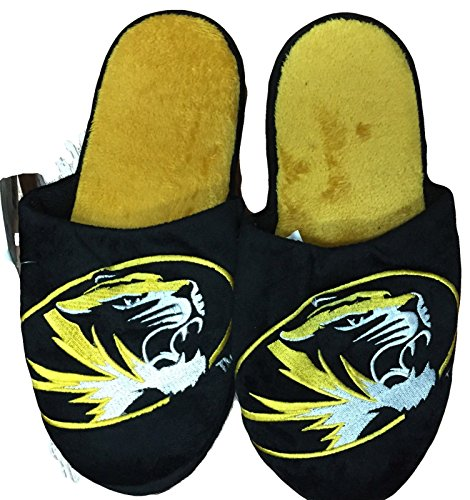 NCAA Missouri Tigers Official Slippers by Forever Collectibles (Large (11-12)) by Forever Collectibles