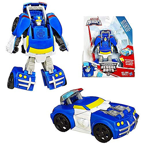 Transformers Chase The Police Bot to Police Car