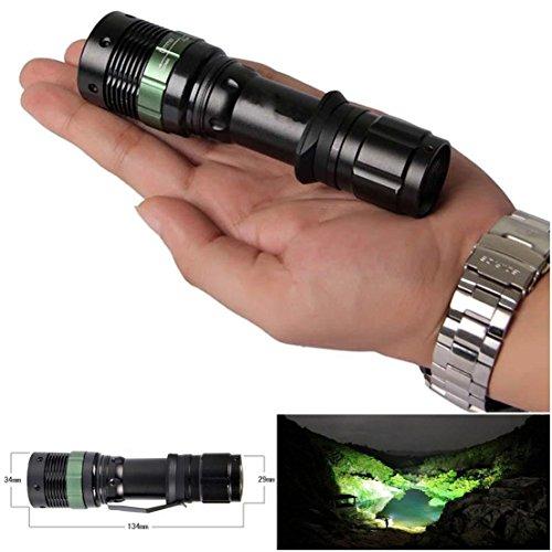 Excellent Popular 3 Mode LED Flashlight 3000 Lumen Convex Lens Torch High Power Adjustable Focus Color - Lens Hk O