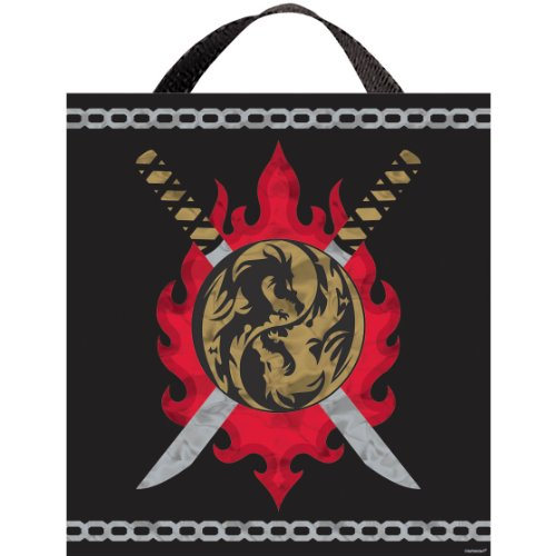 [Awesome Birthday Ninja Treat Bag Party Favour, Fabric, 14