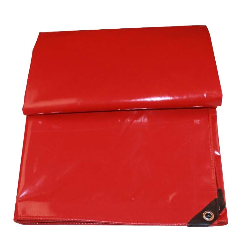 AOHMG Plane Wetterfest Gewebeplane mit ösen, rotes weißes im Freien reversibles wasserdichtes PVC-Linoleum-regendichtes Markisentuch,16.5x19.8ft/5x6m