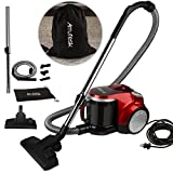 Arrutesk Upright Cyclonic Vacuum Cleaner with Bag,Handheld Vacuum Cleaner,700W 15-17KPA Suction Red with a Portable Bag