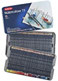 Derwent Watercolor Pencils, 3.4mm Core, Metal Tin, 72 Count (32889)