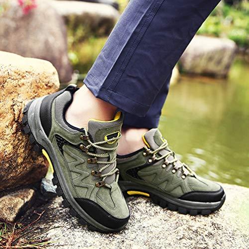 Respirant Impermable Low Chaussures Anti De Marche Vert Bottes Slip Cut Yuanu Lger Hommes Arme Baskets Trekking En Daim 6AqOxB