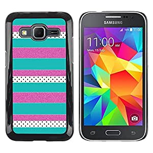 iKiki Tech / Estuche rígido - Purple Teal Pattern - Samsung Galaxy Core Prime SM-G360