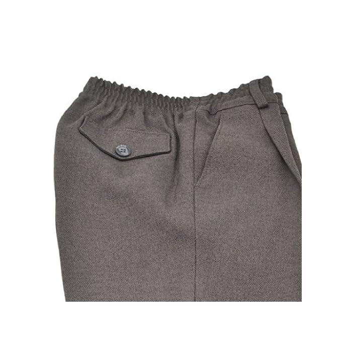 516rfd6LY4L Pantalón escolar fabricado en España de gran calidad y muy cómodo. Con cintura elástica para facilitar la autonomía del niño. 100% Poliéster normal