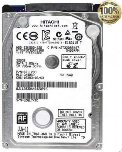 Disco duro interno 320 GB SATA 2,5/grado A, color HITACHI: Amazon ...
