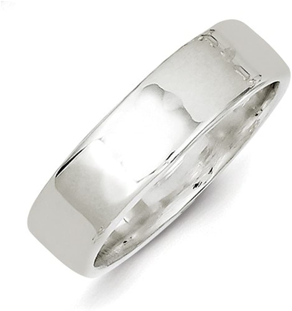 Wedding Bands Classic Bands Flat Bands SS 6mm Flat Size 10 Band Size 5.5