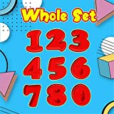 Echoollly Whole Number Set 0-9 Perfect Number Shape