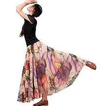 Medeshe Women's Summer Long Floral Holiday Beach Chiffon Maxi Skirt