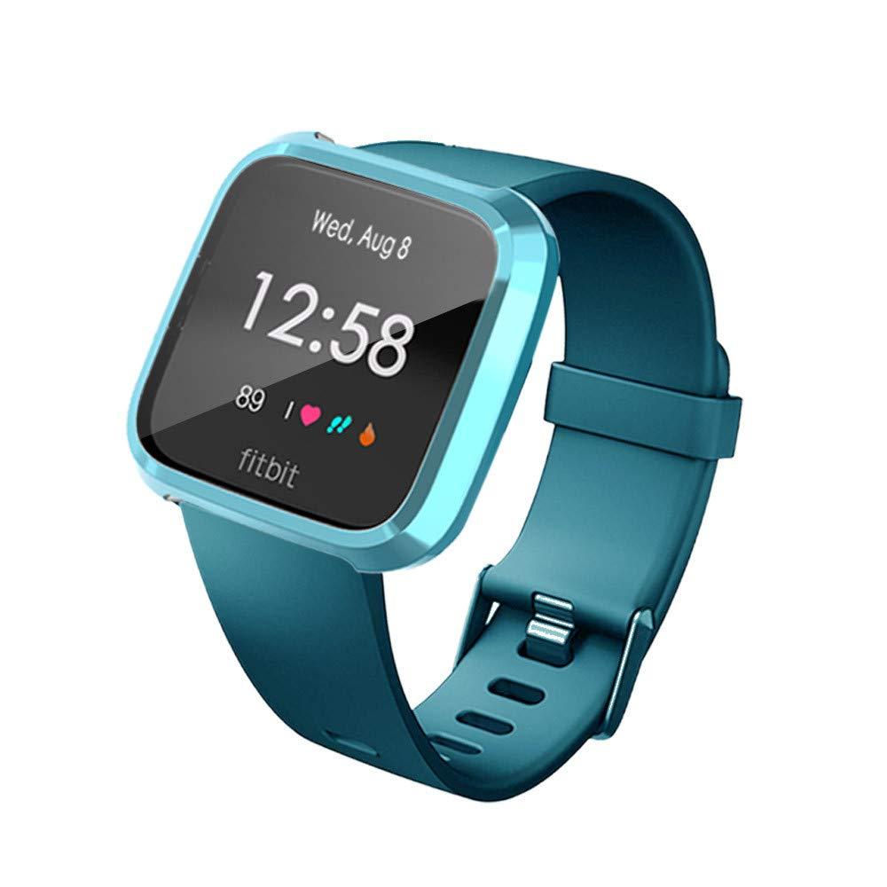 TriLance pour /étui de Protection pour Montre Intelligente pour Fitbit Versa Lite /étui de Protection Souple en TPU pour Montre Intelligente pour Fitbit Versa Lite