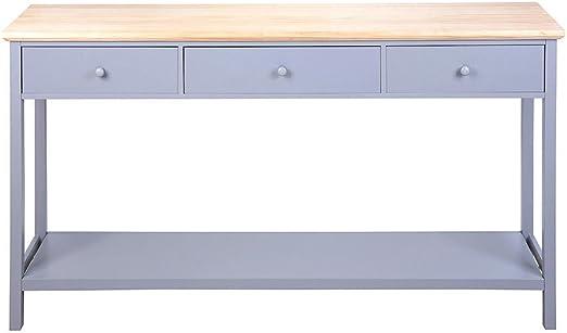 Keinode Mesa de Consola Moderna con 3 cajones y Estante Inferior ...