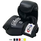 Fairtex Muay Thai Boxing Gloves BGV1 BR Breathable Color: Black Blue Red White Size : 10 12 14 16 oz. Training Gloves for Kick Boxing MMA K1