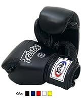 Fairtex Muay Thai Boxing Gloves BGV1 BR Breathable Color: Black Blue Red White Size : 10 12 14 16 oz. Training Gloves for Kick Boxing MMA K1
