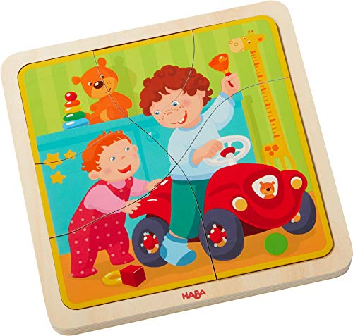 HABA Wooden Puzzle My Life | Wooden Puzzles for 3 Years olds | 303680