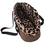 NACOCO Pet Handbag Dog Carriers Cat Portable Travel Bag Outdoor Carrier Pet Tote Bags with Zipper Design for Puppy and Kitten (M, Coffee) Review