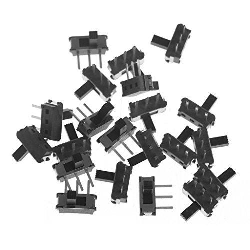 (Vegan 20 pcs/Set 3 pins SPDT 1P2T Micro Slide Switch Latch Toggle Slide Handle 4MM)