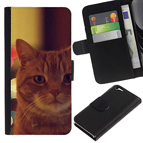 EuroCase - Apple Iphone 6 4.7 - garfield ginger orange mongrel cat - Cuir PU Coverture Shell Armure Coque Coq Cas Etui Housse Case Cover