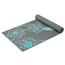 Gaiam Premium Print Yoga Mat, Icy Blossom, 5mm