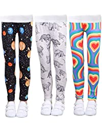 f1d81de419cb43 Girls Stretch Leggings Tights Kids Pants Plain Full Length Children  Trousers, Age 4-13
