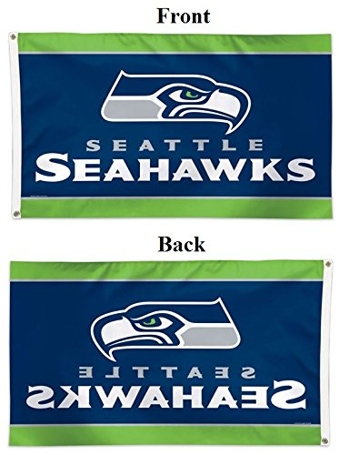 WinCraft NFL Seattle Seahawks 01825115 Deluxe Flag, 3' x 5'