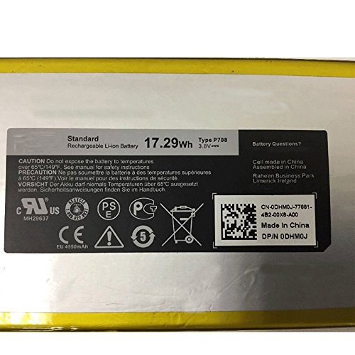 Dentsing P706T / DHM0J for Dell Venue 7 (3740) / Venue 8 (3840) Tablet 17.29Whr System Battery - P708 at Electronic-Readers.com