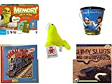 Children's Gift Bundle - Ages 3-5 [5 Piece] - Shrek Forever After Memory Game - Raggedy Ann & Andy Tin Pail Toy - Plush Appeal Neon Sea Lion Plush 4.5