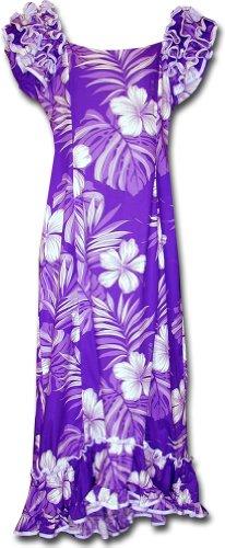 Muumuu Hibiscus Blossom Tropical Hawaiian Wear Purple S 3...
