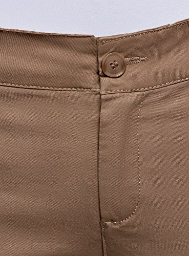 oodji Pantaloni in Cotone Ultra Donna 3500n Beige Chino qqwUOP78