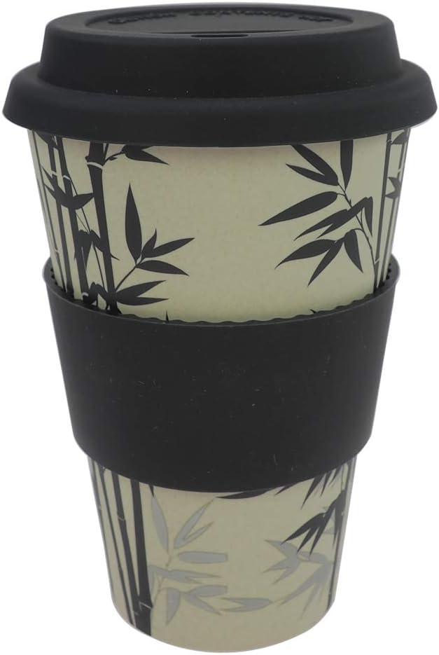 Vaso reutilizable de materiales naturales Sin melamina Carmouflage naranja ebos Coffee-to-Go Taza de bamb/ú Apto para lavavajillas y microondas