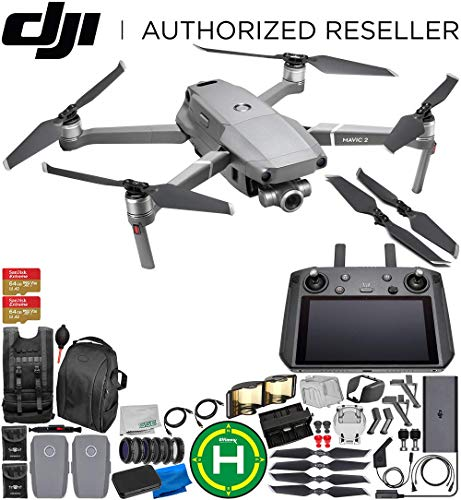 DJI Mavic 2 Zoom Drone Quadcopter with 24-48mm Optical Zoom Camera with Smart Controller Ultimate 2-Battery ()