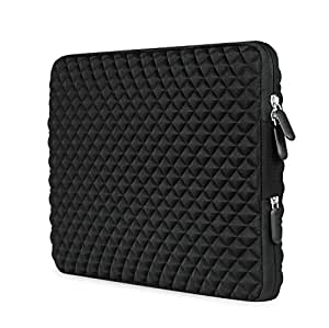 AMNIE Diamond Foam Splash & Shock Resistant Neoprene 11-11.6 Inch Laptop Sleeve Case Bag for MacBooks / Notebook Computer / Netbook / Chromebook / Ultrabook Tablet / Briefcase Carrying Bag, Black