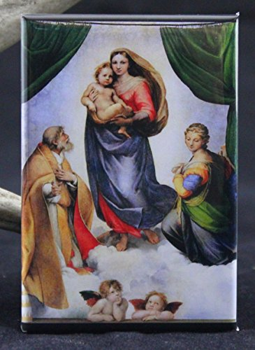 - The Sistine Madonna By Raphael Refrigerator Magnet.
