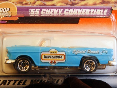 Matchbox by Matel Wheels - Drop Tops - Series 10 - #46 - 1955 Chevy Bel Air Convertible - Sky Blue - 1:65 Scale by Matel, Inc. ()