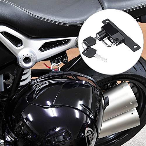 Helmslot, geschikt voor helm, 13 x 6,5 x 2,3 cm, van aluminiumlegering, diefstalbeveiliging (zwart)