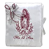 Select Quinceanera Photo Album Guest Book Kneeling Tiara Pillows Bible Q3177 (Photo Album)