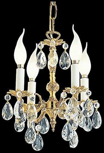 Olde Cast Brass Crystal (Classic Lighting 5204 OWB I Barcelona, Crystal Cast Brass, Mini-Chandelier, Olde World Bronze)